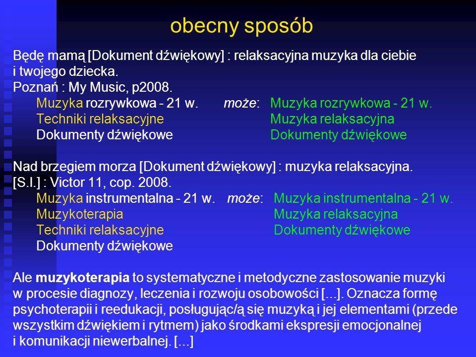 obecny sposób Będę mamą [Dokument dźwiękowy] : relaksacyjna muzyka dla ciebie. i twojego dziecka. Poznań : My Music, p2008.